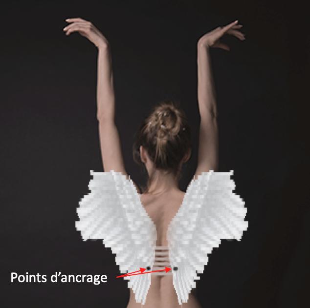 L'image des ailes d'ange pour baisse tes épaules
